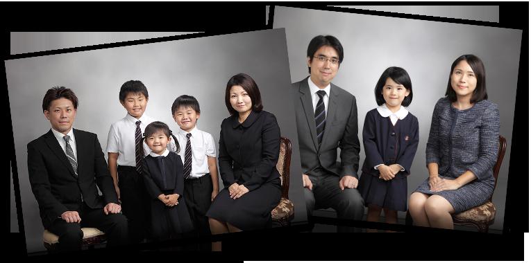 お受験用家族写真