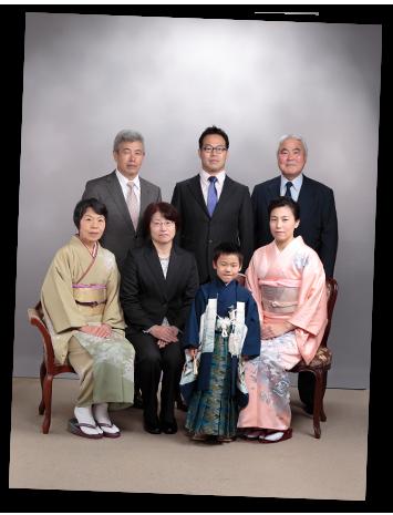 記念日家族写真