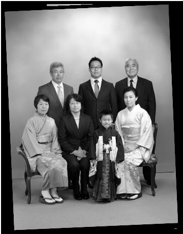 モノクロ家族写真