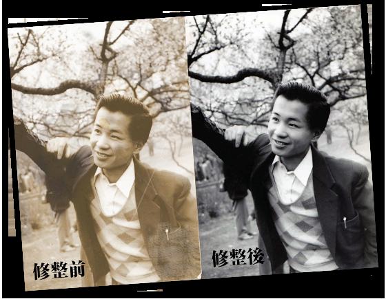 修復前の写真と修復後の写真